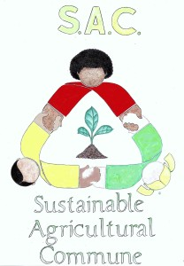 Logo for the Sustainable Agricultural Commune (S.A.C.) by Heshima Denham