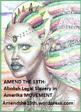 Alternative Logo of Amend The 13th Movement with Afrikan Queen